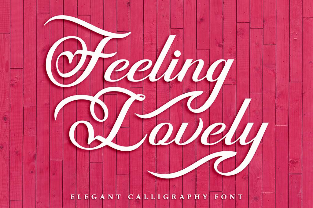 Feeling Lovely Font 婚禮囍帖字型下載