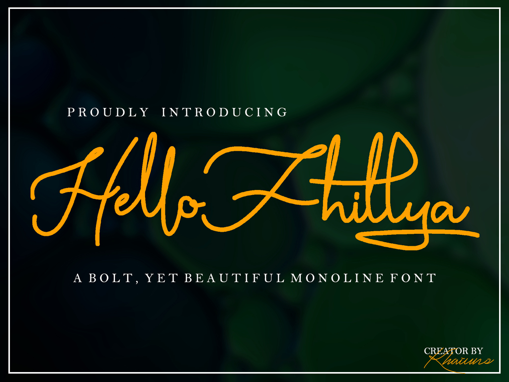 Hello Fhillya Font 簽名字型下載