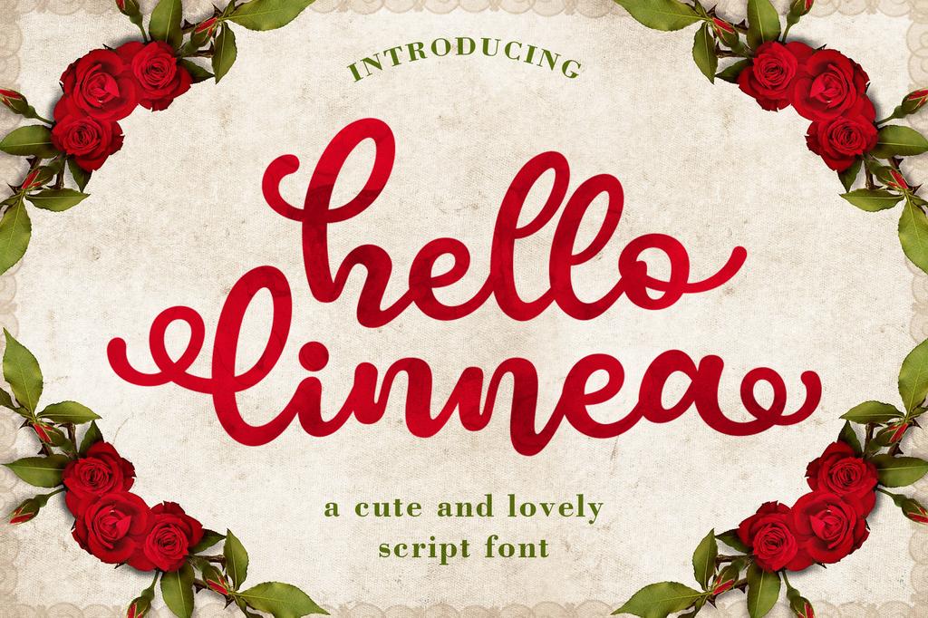 Hello Linnea Font 海報印刷字型下載