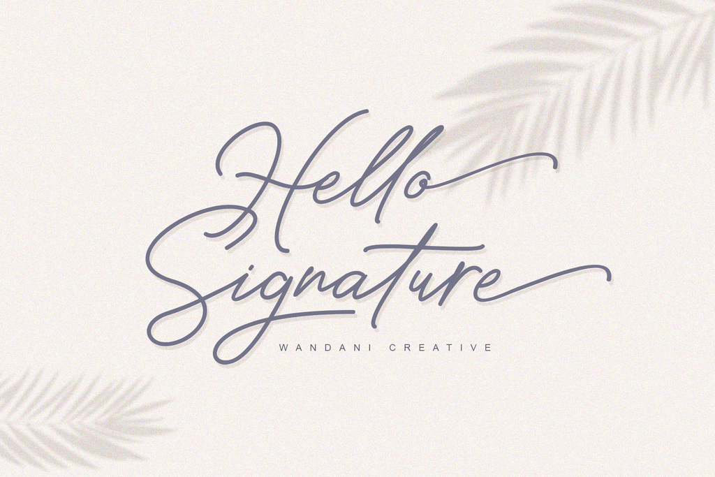 Hello Signature Font 潦草簽名字型下載
