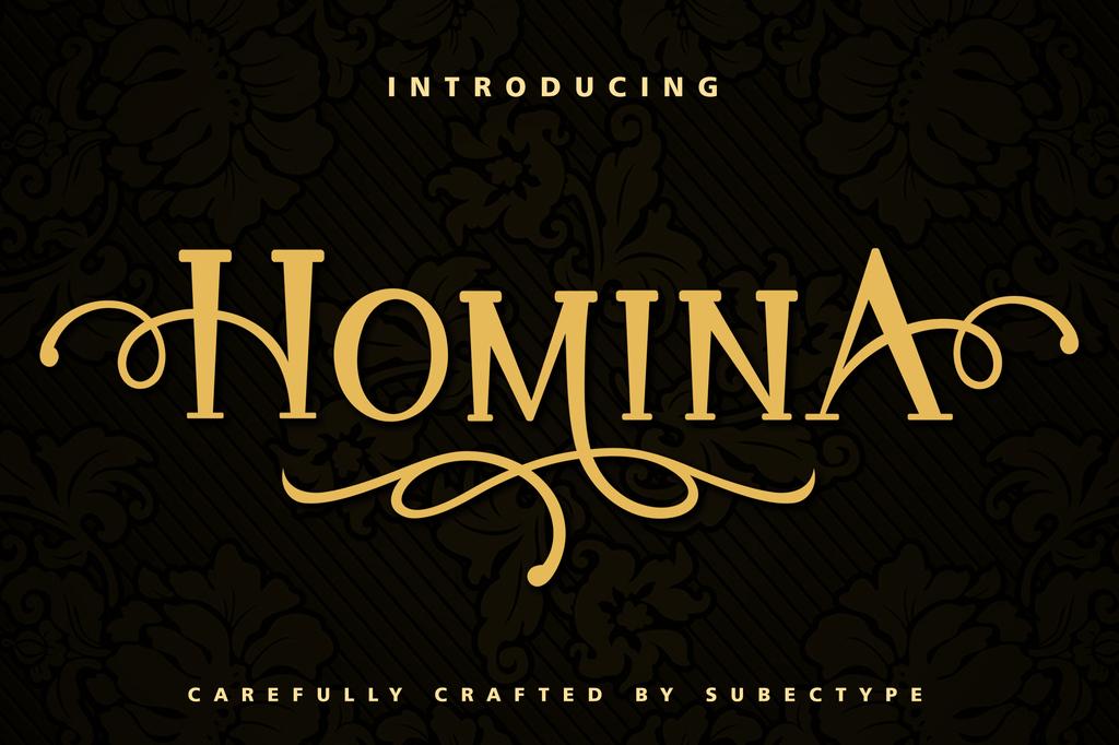 HOMINA Font 奢華感字型下載