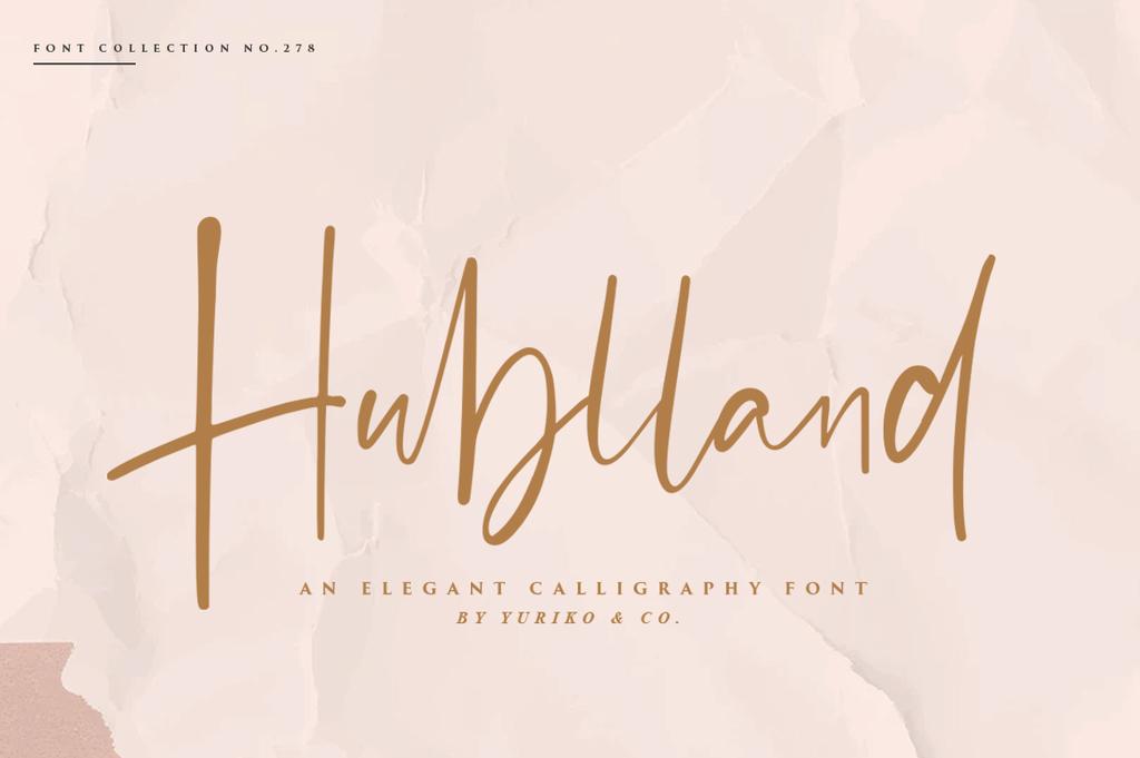 Hublland Font 優雅簽名字型下載