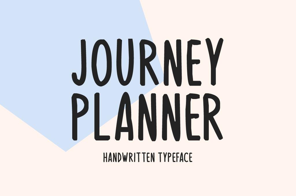 Journey Planner Font 旅行風格字型下載