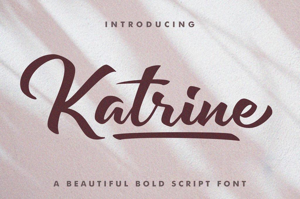 Katrine Font 草寫品牌字型下載