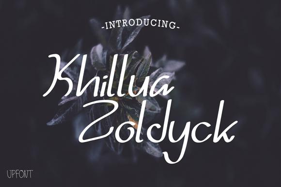 Khillua Zoldyck Font 卡片手寫字型下載