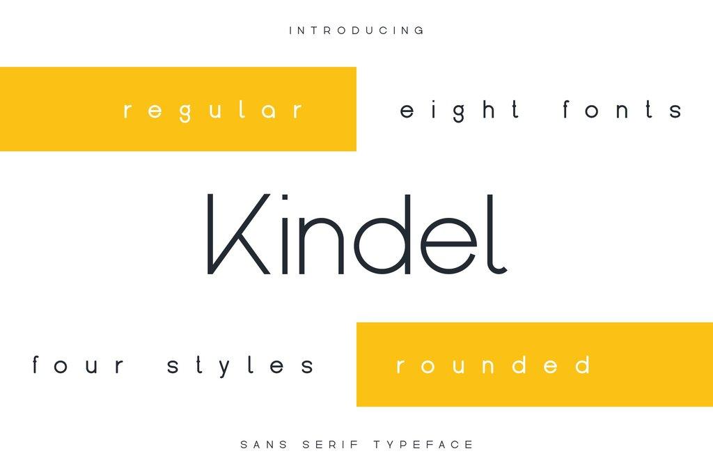 Kindel Font 雜誌標題字型下載