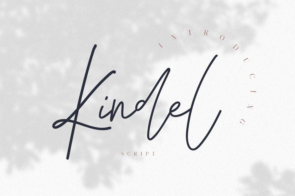 KindelScript Font 簡潔手寫字型下載