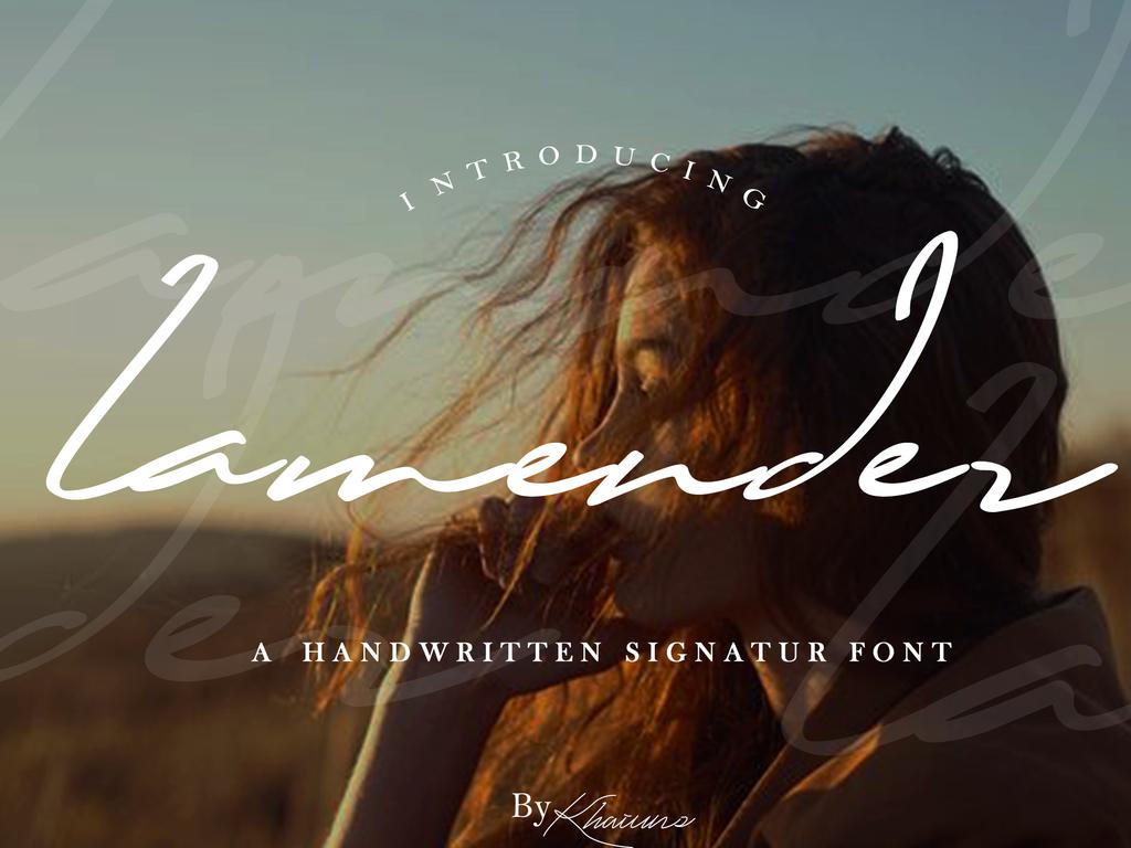 Lamender Font 設計師手寫字型下載