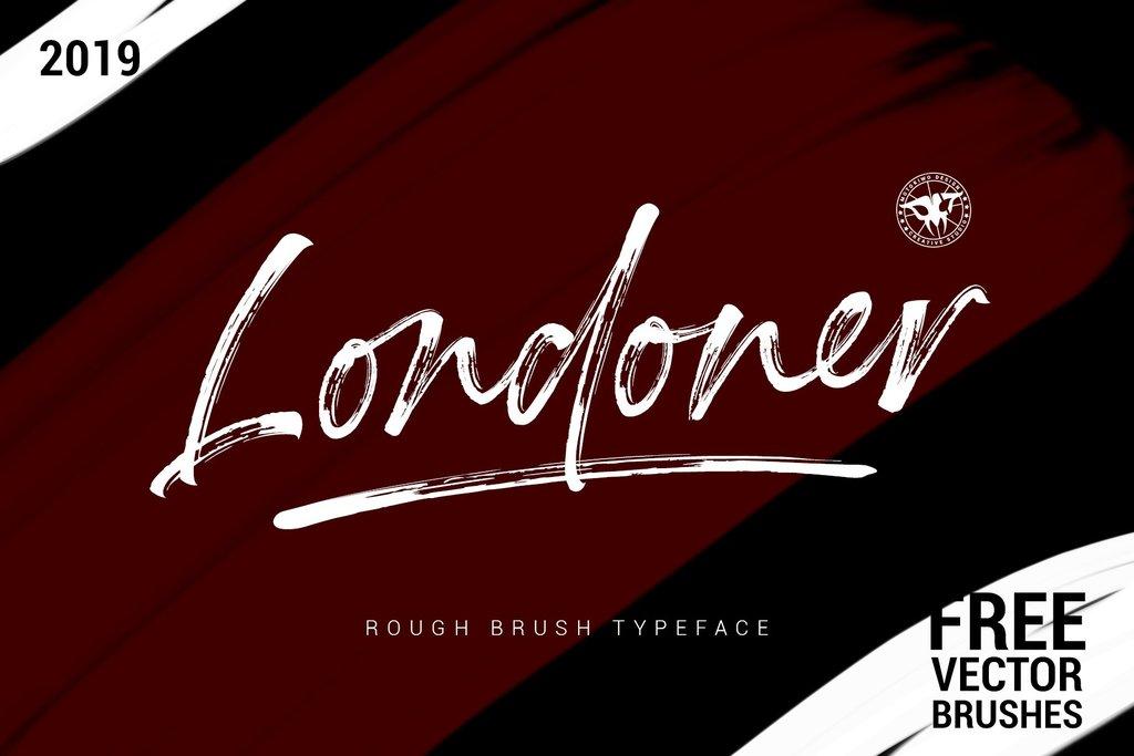Londoner Font 手繪筆刷字型下載