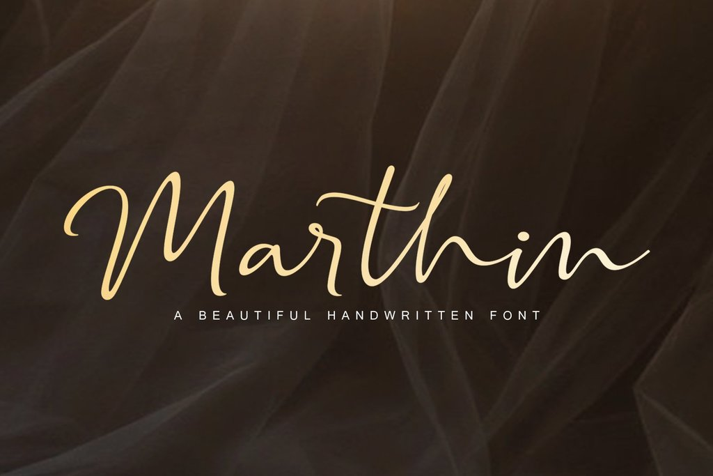 Marthin Font 手寫喜帖字型下載