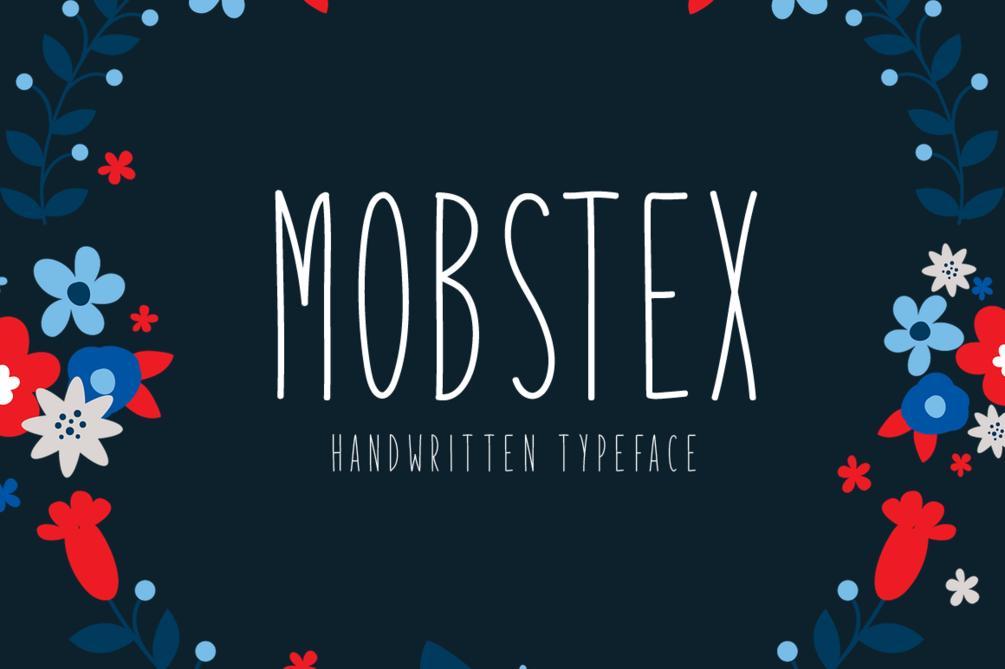 Mobstex – Free For Personal Use Font 手寫卡片字型下載