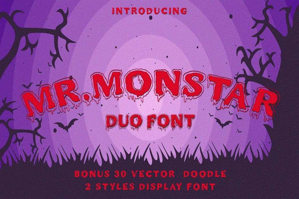 MR.MONSTAR Font 萬聖節怪物字型下載