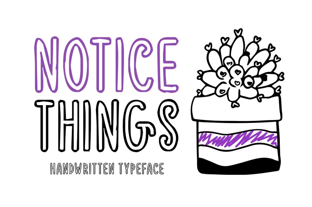 Notice Things Font 可愛手帳字型下載