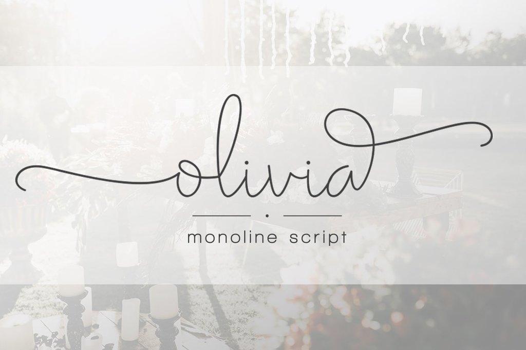 Olivia Font 攝影師字型下載