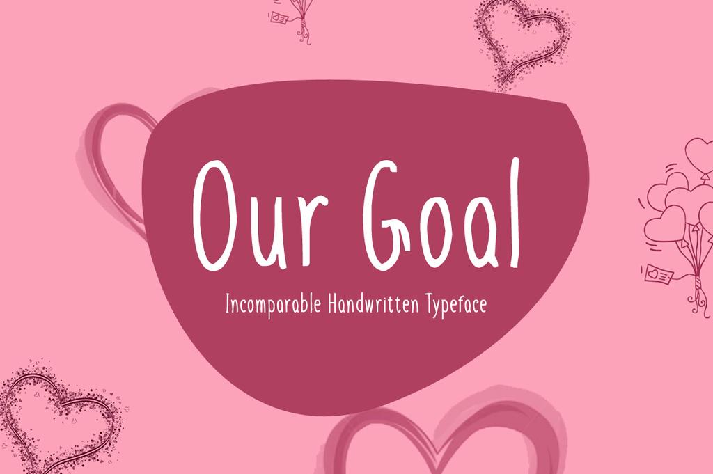 Our Goal Font 手寫可愛字型下載