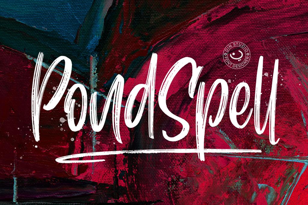 Pondspell Font 毛筆塗鴉字型下載