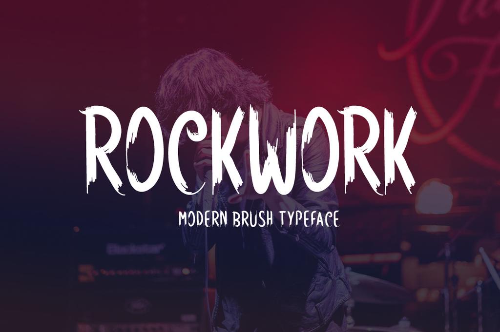 Rockwork Font 英文搖滾字型下載