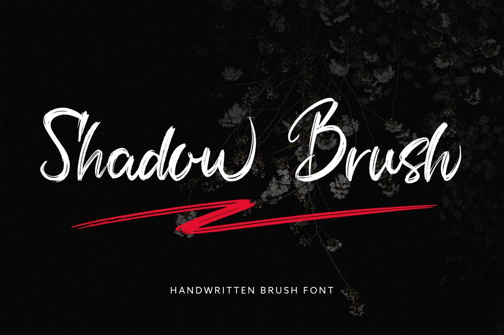 Shadow Brush Font Family 個性筆刷字型下載