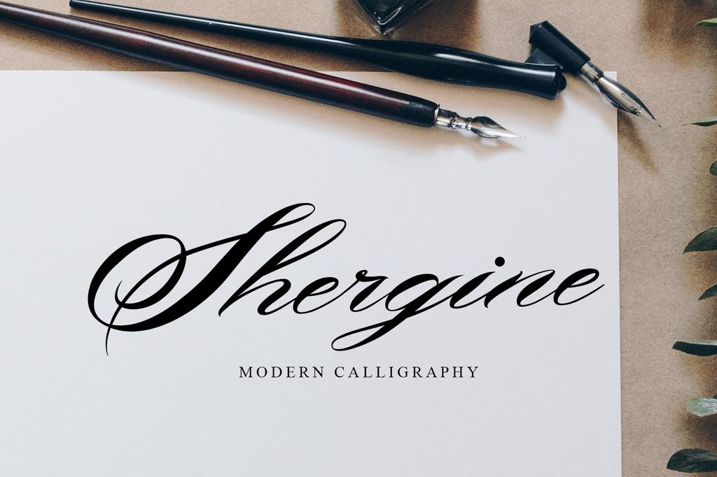 Shergine Font 花式簽名字型下載