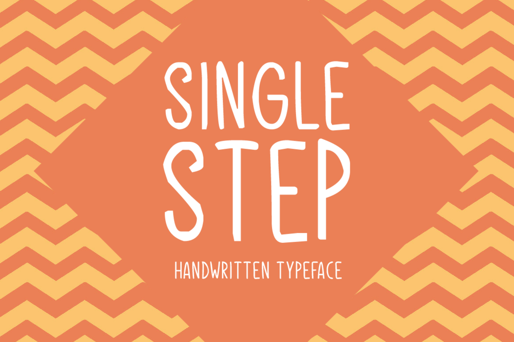 Single Step – Free For Personal Font 簽字筆字型下載