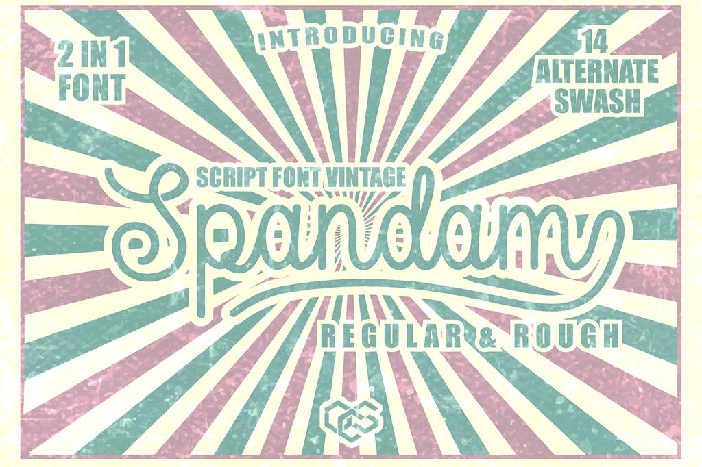 Spandam Font 老舊海報字型下載