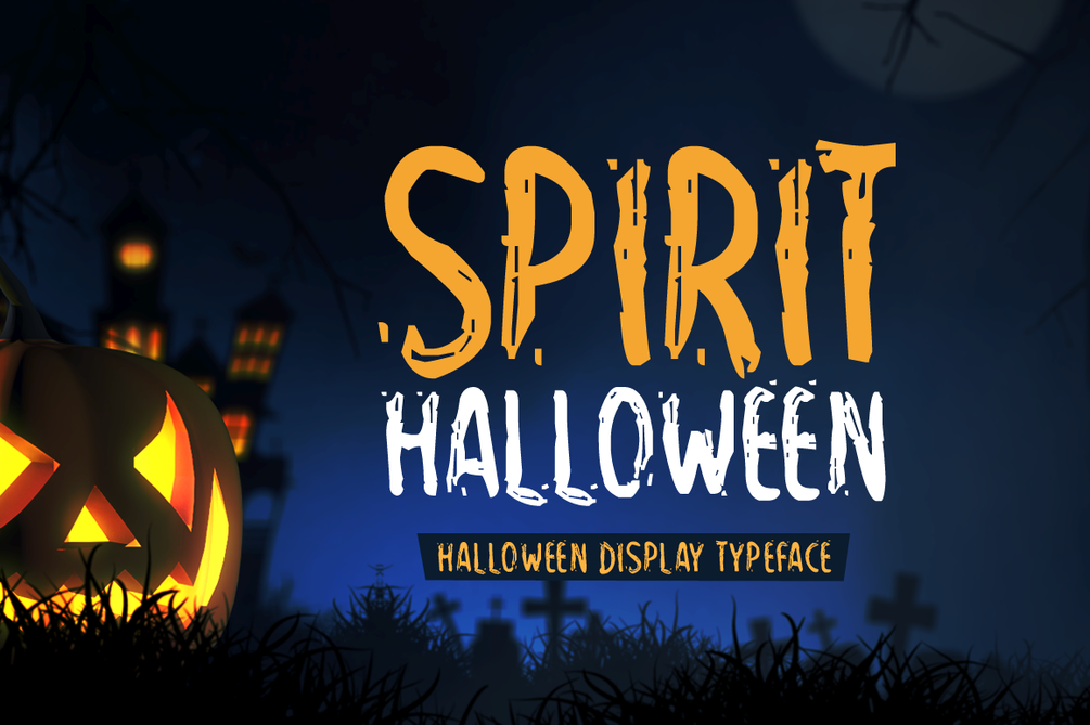 Spirit Halloween Font 可愛萬聖節字型下載