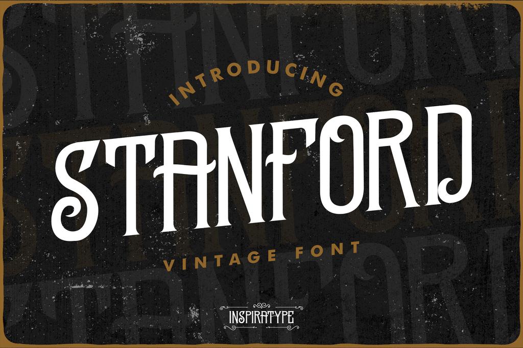 STANFORD FREE Font 復古餐廳字型下載