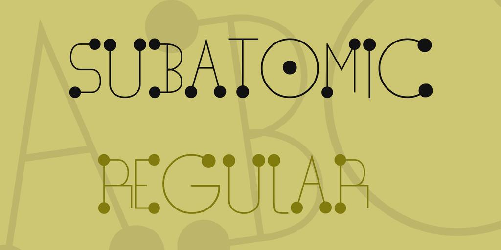 Subatomic Font 物理分子字型下載