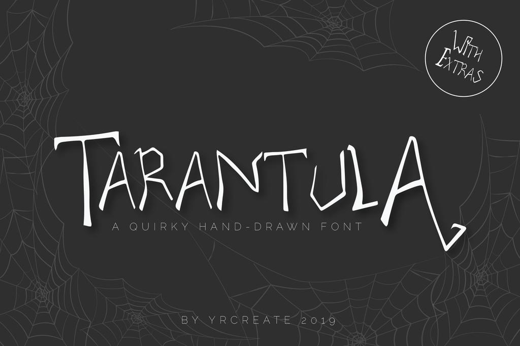 Tarantula Font Family 萬聖節看板字型下載