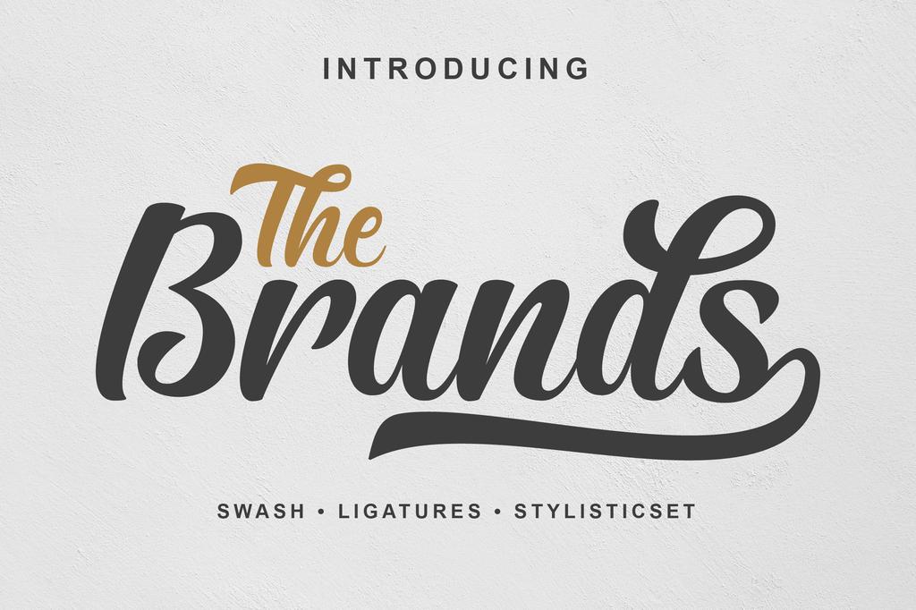 The Brands Font 手寫感書法字型下載