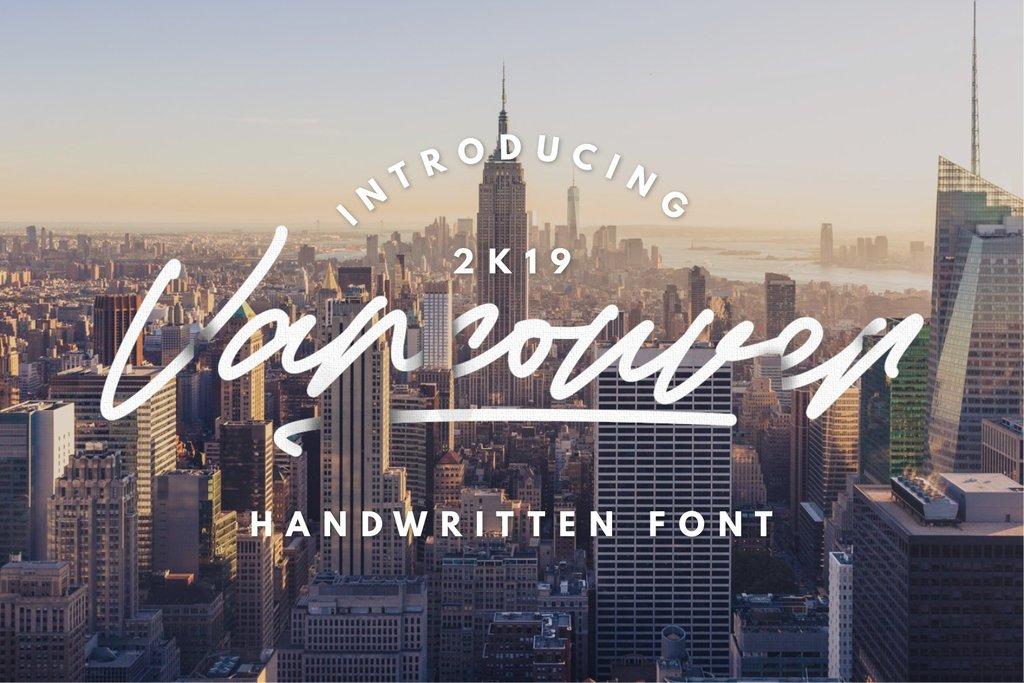 Vancouver FREE Font 美式簽名字型下載