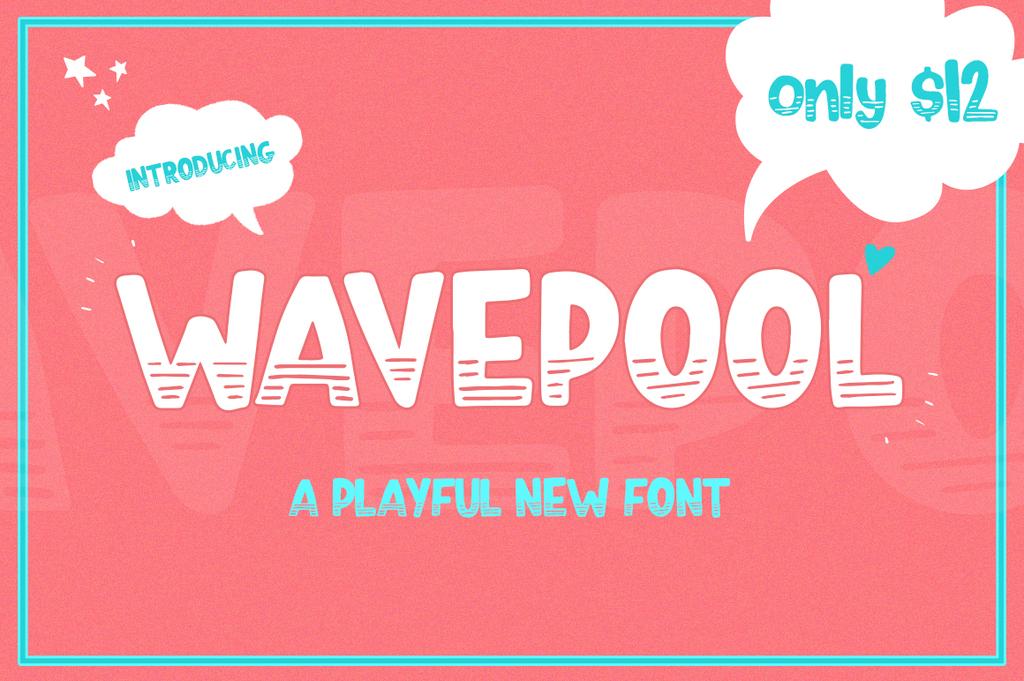 Wavepool Font 潮流可愛字型下載