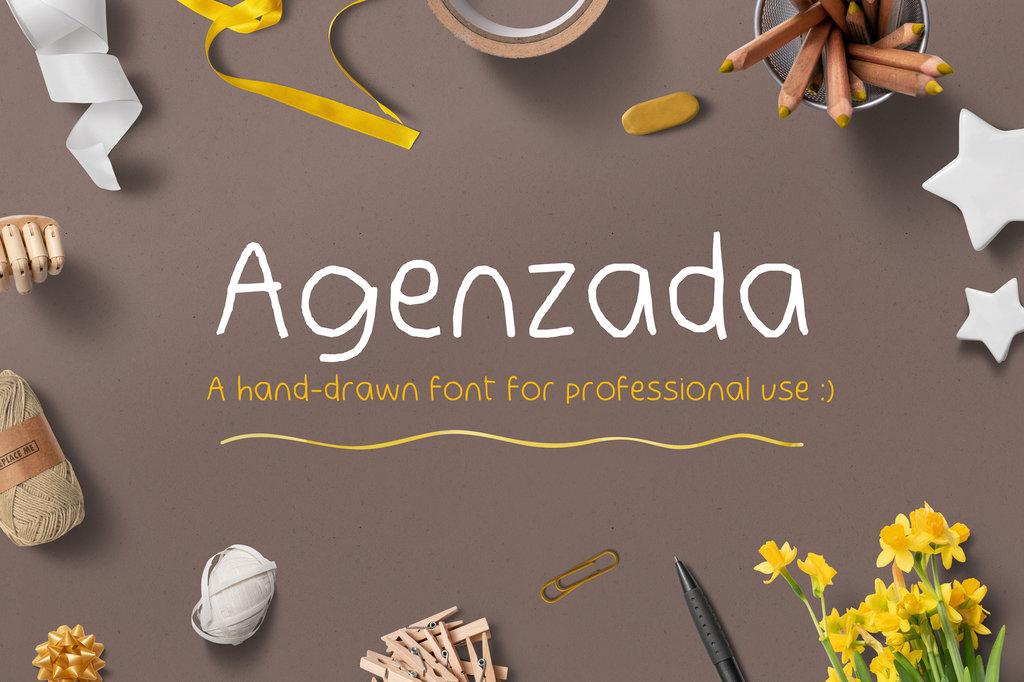 Agenzada Demo Font 美式粉筆字型下載