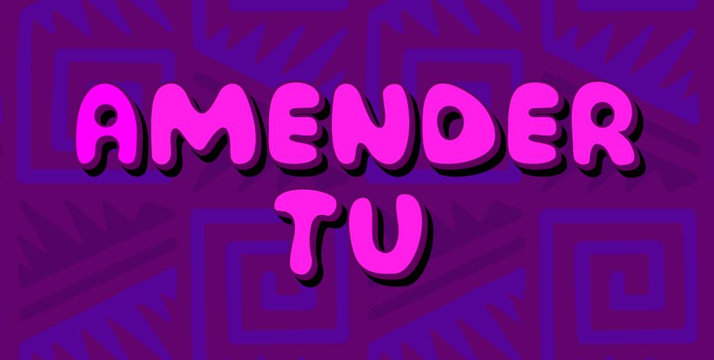 Amender Tu Font 3D 海報字型下載