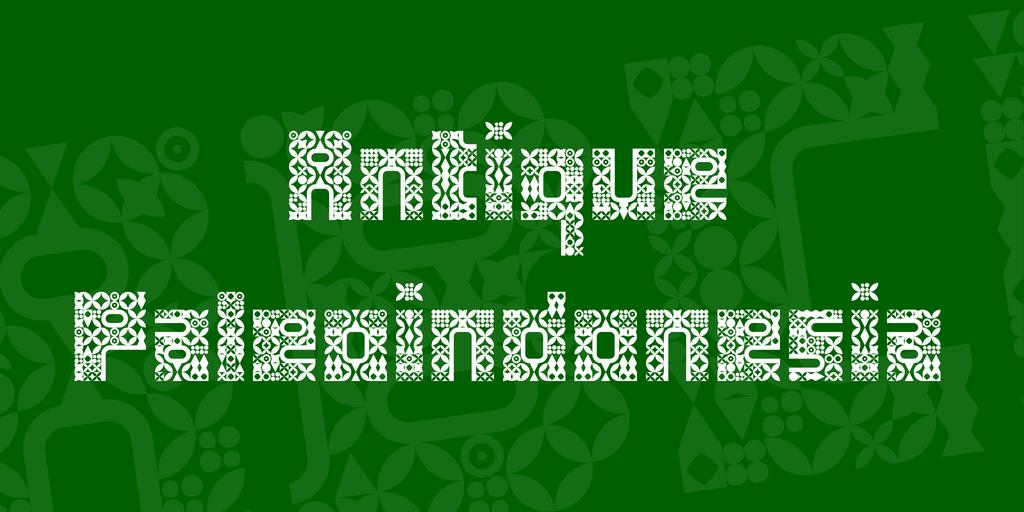 Antique Paleoindonesia Font 印度風格字型下載