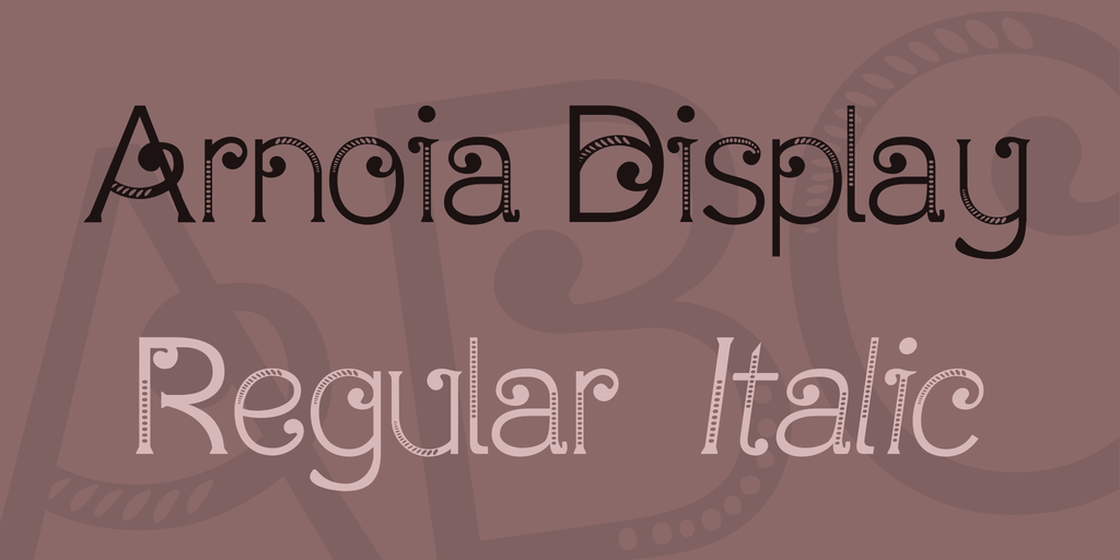 Arnoia Display Font Family 手繪花邊字型下載