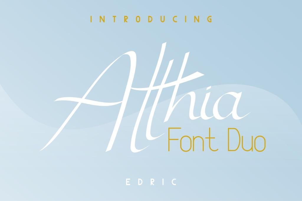 Atthia Font Family 歐美時尚字型下載