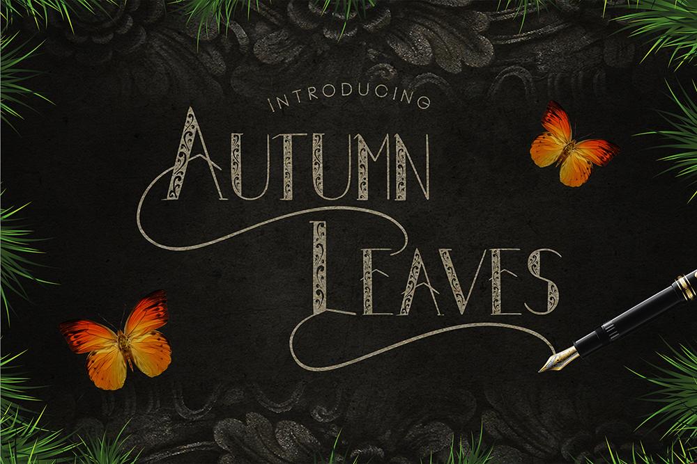 Autumn Leaves Font 秋季字型下載