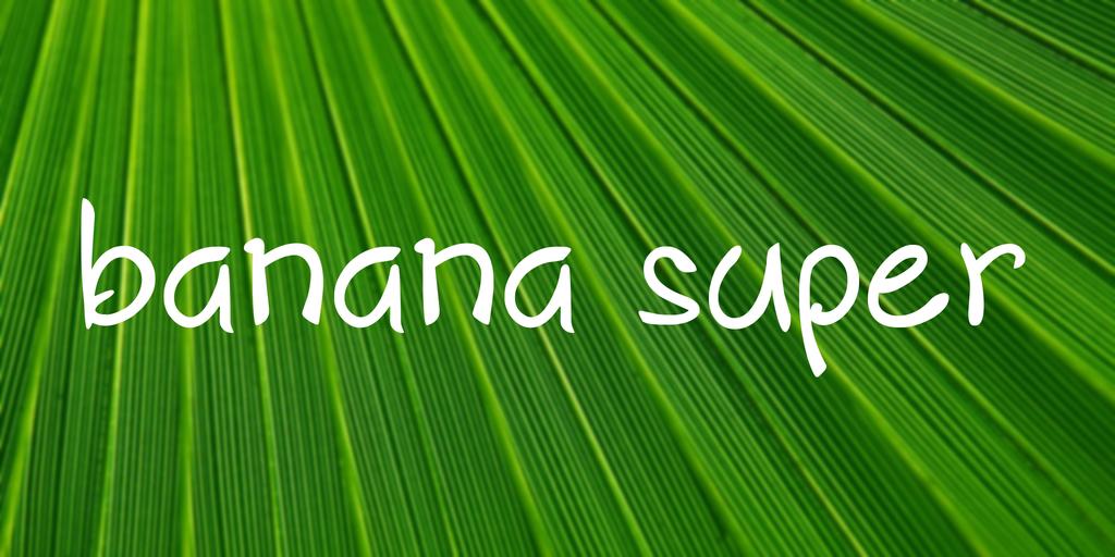 banana super Font 活潑字型下載