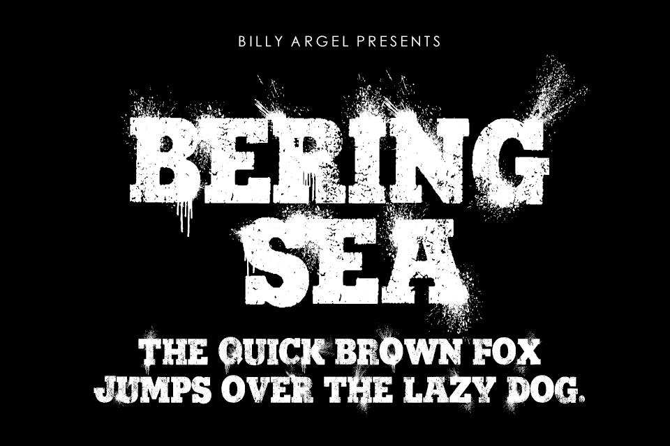 Bering Sea Personal Use Font 書法水墨字型下載