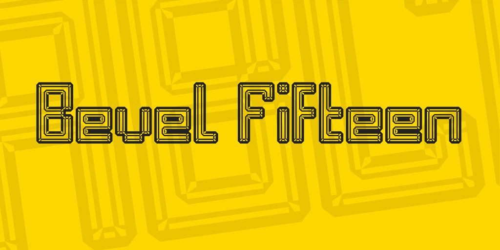 Bevel Fifteen Font 線性海報字型下載