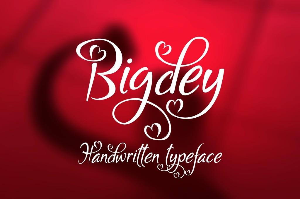Bigdey Font 情人節字型下載