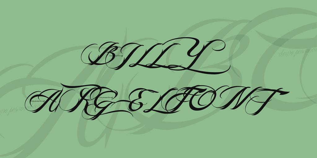 時尚刺青書寫體