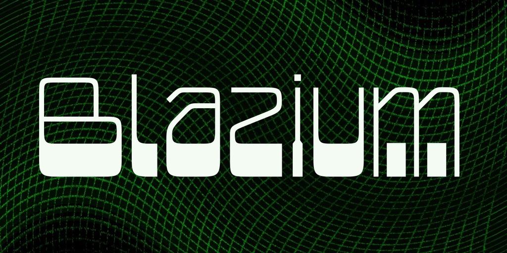 Blazium Font 復古立體字型下載