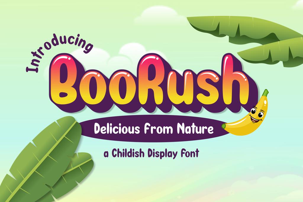 BooRush Font 英文調皮字型下載