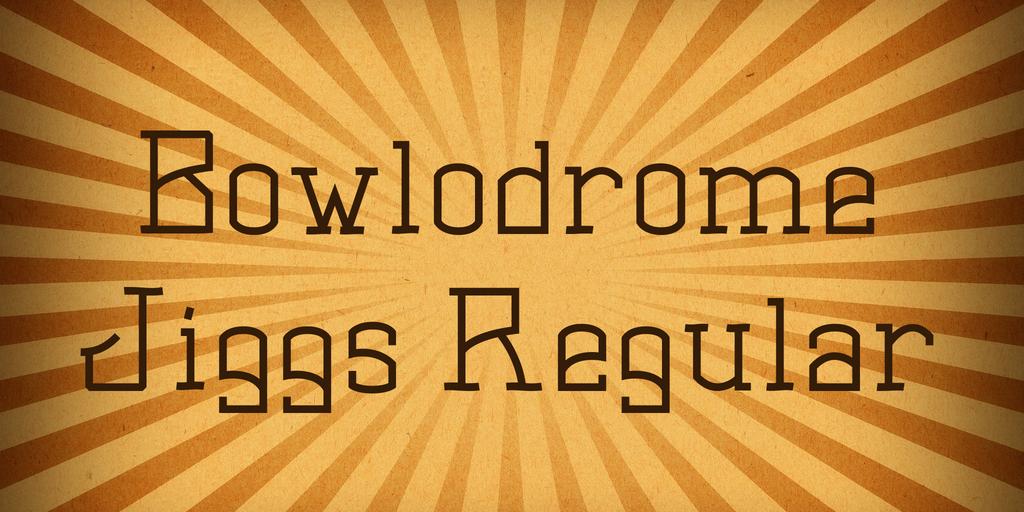 Bowlodrome Jiggs Font 金屬機械字型下載