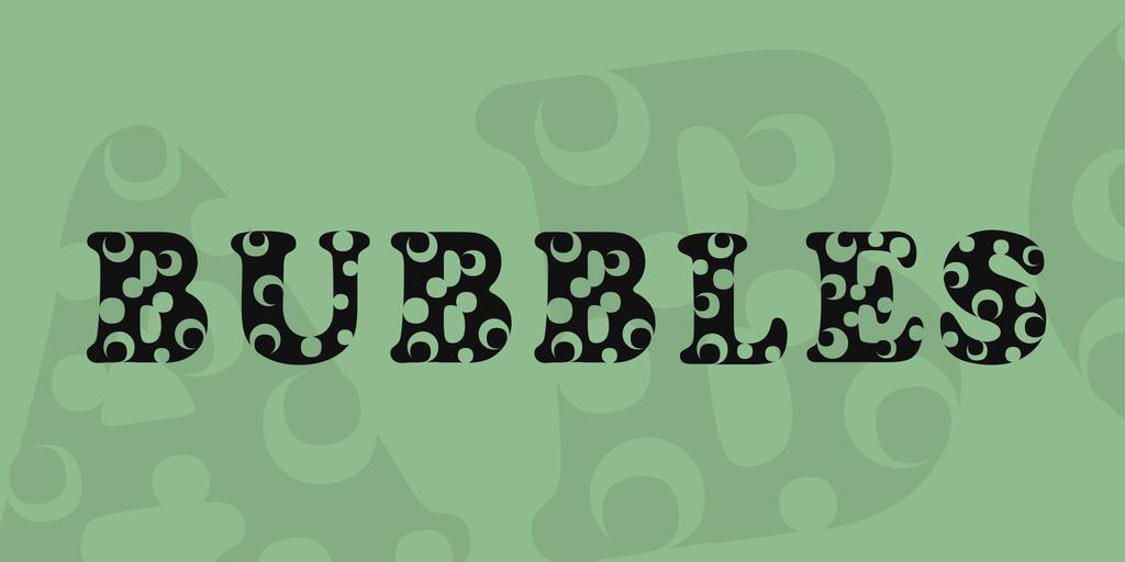 Bubbles Font 可愛氣泡字型下載
