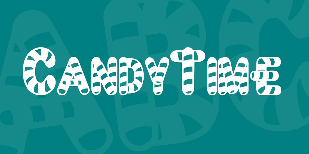 CandyTime Font 糖果字型下載
