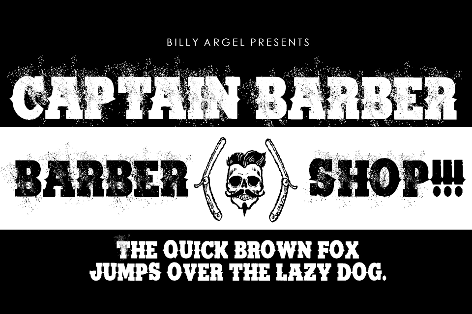 CAPTAIN BARBER PERSONAL USE Font 磅礡氣勢字型下載