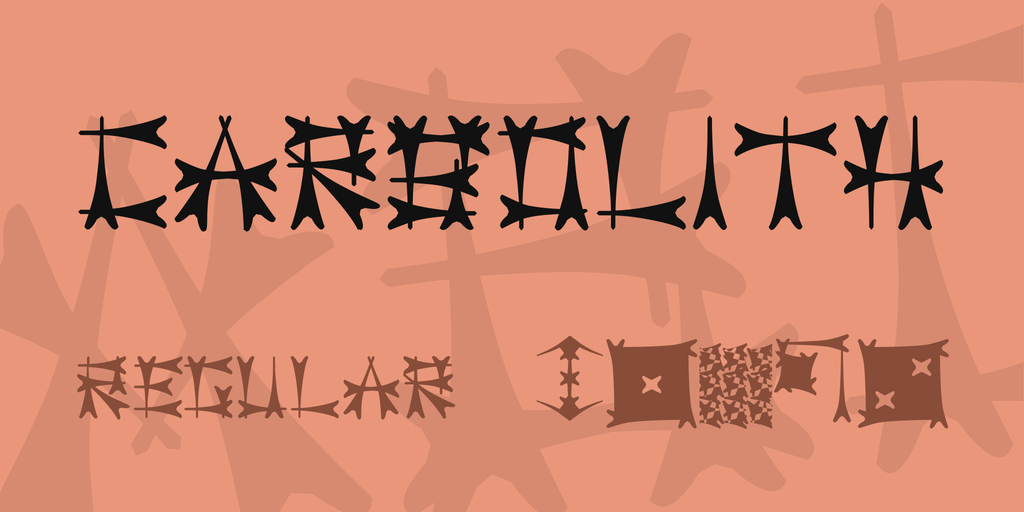 Carbolith Font Family 古代符文字型下載